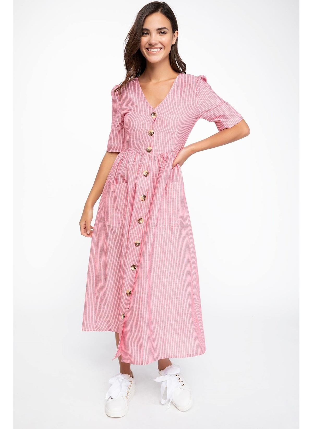Defacto Çizgili Gömlek Elbise K0661az18aupn368elbise – 89.99 TL